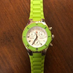 Michele Watch - lime green